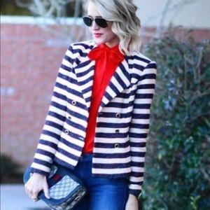 CAbi Jackets & Coats - CAbi Love Carol Cruise Nautical Stripe Jacket EUC